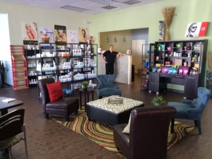 nutrition center inside Lange Eye Care, relax and have an organic green tea or latte